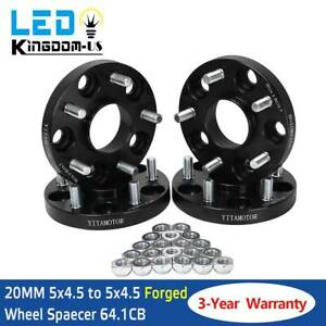 20mm 5 Lug Black Hubcentric Wheel Spacers Adapters 5x4 5 For Civic Cr v Accord