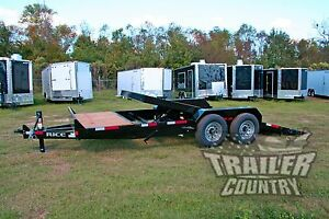 New 2019 7 X 20 14k Flatbed Utility Tilt Equipment Hauler Car Hauler Trailer