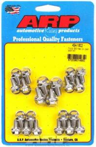Arp Oil Pan Bolts Polished Stainless Hex Head Ford Small Block Cleveland Kit