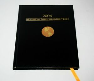 2004 American Express Executive Leather Appointment Planner Book Prop Calendar