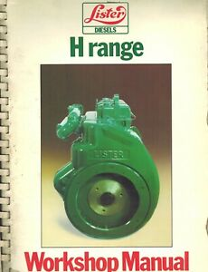 Lister Vintage H Range Hr w 2 3 Diesel Engines Workshop Manual 1979