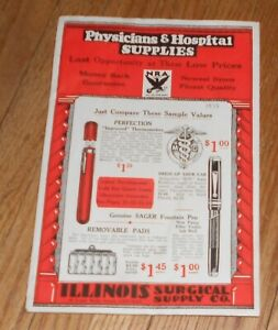 1933 Antique Medical Trade Catalog Illinois Surgical Supply Co Surgery Tools Etc