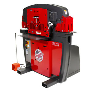 Edwards Iw100dx3p460 460v 3 phase 100 ton Deluxe Jaws Ironworker Power Tool New