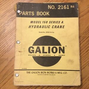 Galion 150a Parts Manual Book Catalog Manual Hydraulic Mobile Crane Guide 2161