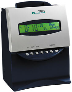 Refurbished Acroprint Es1000 Self Totaling Time Recorder Clock W 100 Time Cards