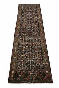 Spectacular S Antique Runner Hossainabad Persian Rug Oriental Area Carpet 4x13