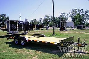New 2019 7 X 20 10k Rice Flatbed Utility Equipment Carhauler Car Hauler Trailer