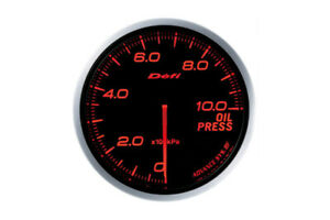 Defi Advance Bf Red 60mm Oil Pressure Gauge 0kpa To 1000kpa Df10202