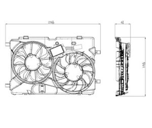 Dual Radiator And Condenser Fan Assembly Fits 10 12 Ford Lincoln Fusion Mkz