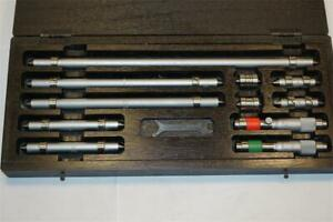 New Moore Wright Uk 11pc End Measuring Rod Inside Micrometer Boxed Set