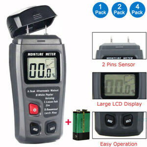 2 Pins Probes Lcd Display Digital Wood Moisture Meter Humidity Tester 0 99 9