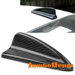 Real Carbon Fiber Shark Fin Style Roof Top Dummy Antenna Decor Fit Honda Civic