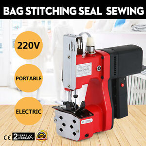 220v Industrial Bag Stitching Closer Seal Sewing Machine Electric Needle Tool