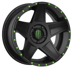 Monster Energy Limited Edition 648mb Black Wheels With Machined Accent A197995