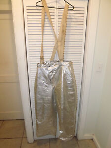 X large Firefighter Fireman s Turnout Gear Pants With Liner 34 37