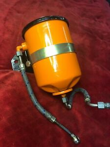 Nice Porsche 356 912 Oil Filter Canister Housing With Bracket Strap And Lines