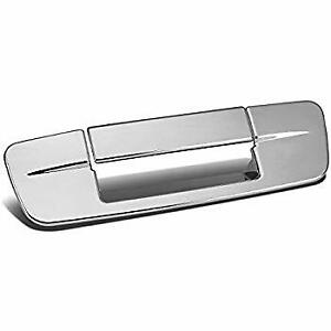 Chrome Tail Gate Handle Covers For A 2009 2011 Dodge Ram With Keyhole