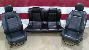 05 09 Mustang Coupe Black Leather Bucket Seats Backseat Power Manual Hot Rod Oem