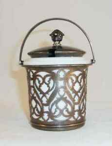 Gorham Sterling Silver Cheese Jar W Maclaren S Imperial Cheese Milk Glass Liner