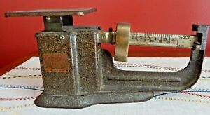 Antique Balance Beam Scale Triner Scales 1 Pound By 1 2 Ounce Graduations Works