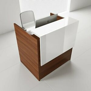 Mdd Tera 50 Lowland Nut Reception Desk With Lighting Panel