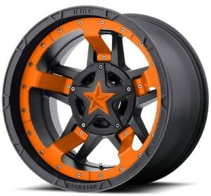 20 Inch Black Orange Wheels Rims Dodge Ram 1500 Truck Xd Series Rockstar 3 20x12