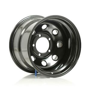 Cragar Soft 8 Black Steel Wheels 15 X10 5x5 5 Bc Set Of 4