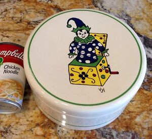 Art Deco Clown Dresser Box Trinket Box Pfaltzgraff Cookie Jar