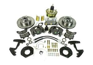 Ssbc A120 5 Disc Brakes Front Slotted Rotors 1 Piston Calipers Ford Mustang Kit