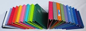 Assorted Colors 3 ring Binders 1 5 Inch Capacity 8 5 X 11 Case Of 20