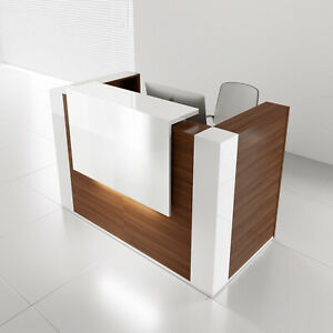 Mdd Tera 104 Lowland Nut Reception Desk With Lighting Panel