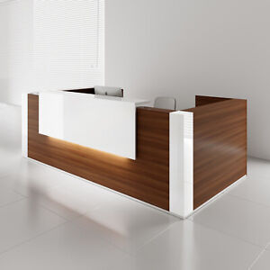 Mdd Tera 128 Lowland Nut Reception Desk With Lighting Panel
