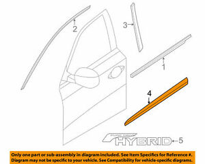 2013 2015 Nissan Pathfinder Front Right Passenger Side Lower Door Molding