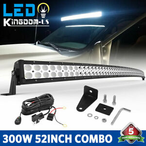 52 Inch Led Work Light Bar Flood Spot Offroad 4wd Suv Ute Driving For Jeep