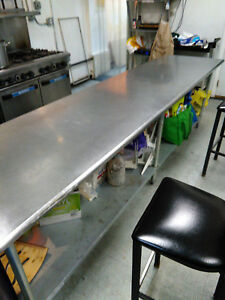 Stainless Steel Work Prep Table 10 Feet Delivery Price Not Included