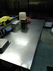 Stainless Steel Work Table 6ft With Bottom Shelf Delivery Price Not Inlcuded