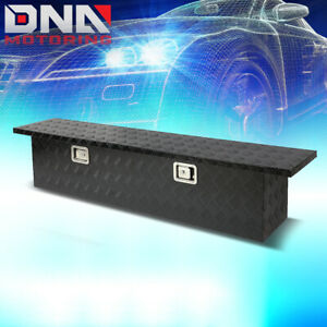 60 X 12 X 14 Black Aluminum Pickup Truck Trunk Bed Camper Tool Box Storage Lock