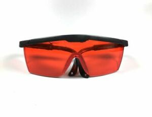 50pcs Protective Eye Goggles Dental Safety Red Glasses Black Frame Ecnomic