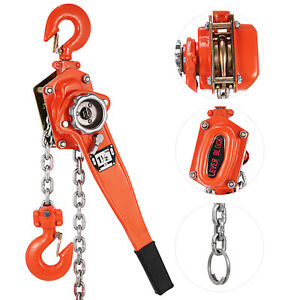 1 5t Lever Block 5ft Chain Hoist Puller Comealong Hand Pull Built in Gearing