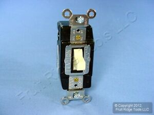 Leviton Ivory Spdt Double Throw Maintained Contact Toggle Switch 20a Bulk 1285 i