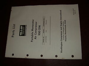 Worthington Air Compressor La Pld 900 Monorotor Pump Parts List Manual