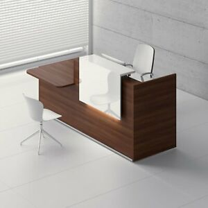 Mdd Tera 81 Left Lowland Nut Reception Desk With Lighting Panel