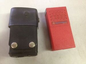 Motorola Minitor Rc0098 Low Band Pager With Black Leather Case