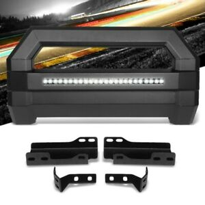 Square Textured Bull Bar Grill Guard License Bracket Led Bar For 07 18 Tahoe