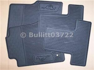 2005 2006 2007 2008 2009 Ford Mustang All Weather Floor Mats Black 4 Piece Set