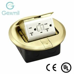 Ul Listed Gexmil Multi application Electrical Floor Outlet Boxes Brass Cover