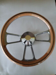 Steering Wheel Alder Wood 1 2 Wrap 14 W Adapter horn 69 98 Cadillac All Model