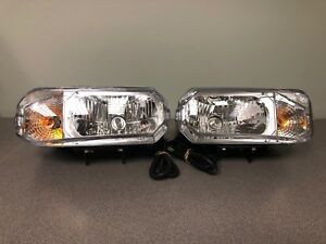 Halogen Snowplow Dual Hi Low Bulb Headlamp Kit 1 Pair New Hamsar Plow Light