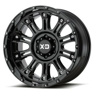 18 Inch Wheel Rims Xd Series Hoss 2 Gloss Black Jeep Jk 5x127 5x5 Lug Set Of 4