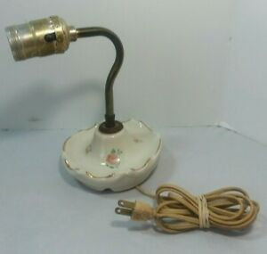 Vintage Wall Hanging Lamp W Electric Cord Pink Roses